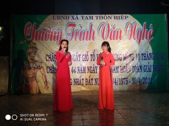 Đoàn 1 Nhà hát Cải lương Trần Hữu Trang diễn phục vụ nông thôn mới tại Đình Tam Thôn Hiệp .huyện Cần Giờ .ngày 20/4/2021
