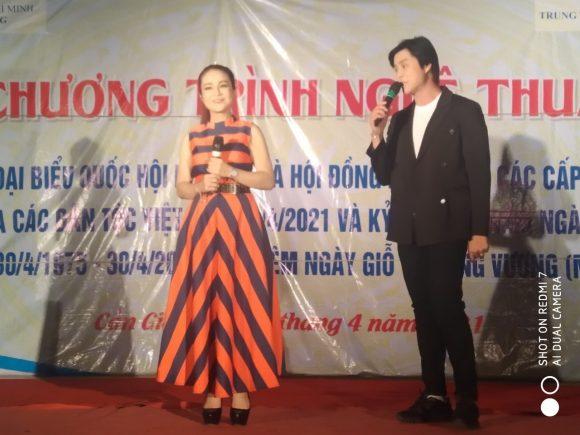 Đoàn 2 Nhà hát Cải lương Trần Hữu Trang phục vụ tại khu dân cư Bà Xán ,ấp Bình lợi ,xã Bình Khánh .huyện Cần Giờ .ngày 19/4/2021